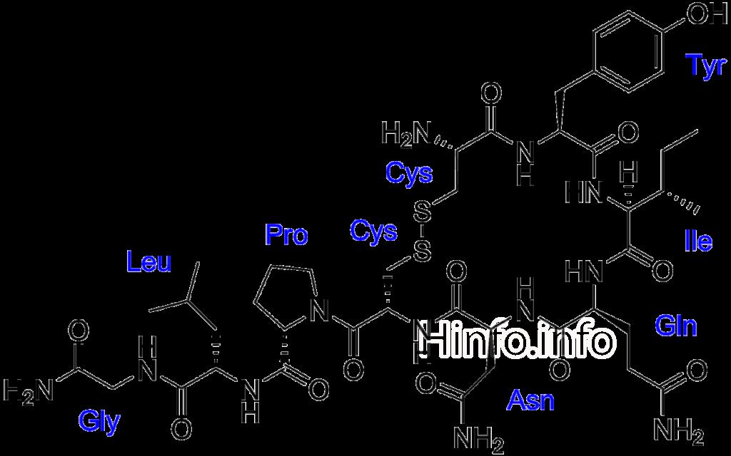 Химическая формула окситоцина.