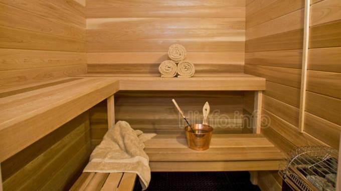 Фотография паровой комнаты классической сауны.